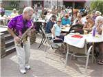 View larger image of Saxophone player on the patio at TOWERPOINT RESORT image #1