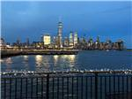 View larger image of View of New York City at night at LIBERTY HARBOR MARINA  RV PARK image #1
