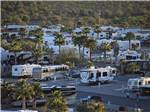 View larger image of Aerial view over campground at DESERT GOLD RV RESORT image #2