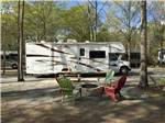 View larger image of RV in gravel site with picnic table at TWIN OAKS RV PARK image #3