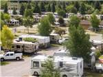 View larger image of An aerial view of the campsites at THE VIRGINIAN LODGE AND RV PARK image #2