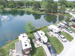 View larger image of Magnificent aerial view of campgrounds at SPRING LAKE RV RESORT image #4
