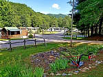 View larger image of Road leading into campgrounds at CREEKWOOD FARM RV PARK image #7