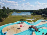 View larger image of Aerial view over waterpark at YOGI BEAR JELLYSTONE CAMP RESORTS image #10