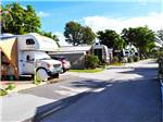 View larger image of RVs parked in a row at SUNSHINE HOLIDAY FT LAUDERDALE image #2