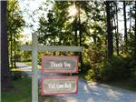 View larger image of Sign leading out at LAKE PINES RV PARK  CAMPGROUND image #12