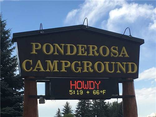 PONDEROSA CAMPGROUND at CODY, WY