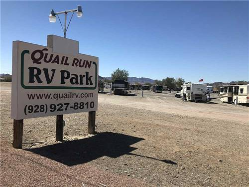 QUAIL RUN RV PARK at QUARTZSITE, AZ