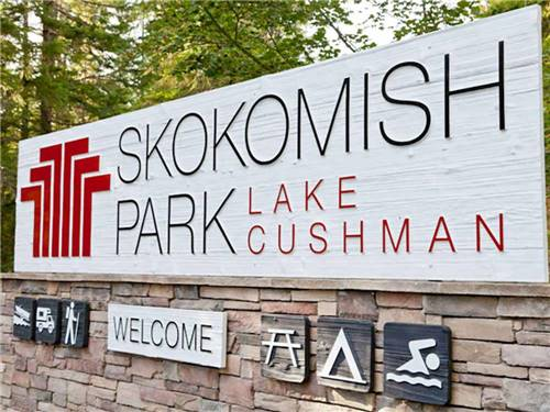 SKOKOMISH PARK AT LAKE CUSHMAN at HOODSPORT, WA