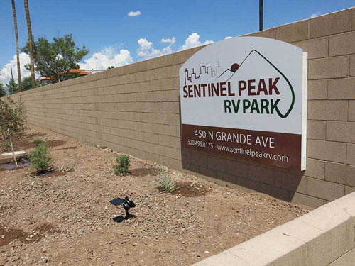 SENTINEL PEAK RV PARK at TUCSON, AZ