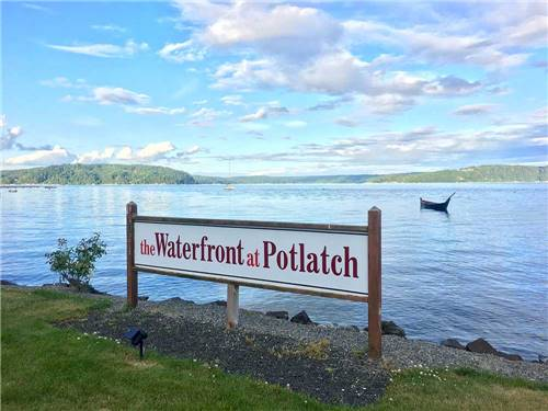 THE WATERFRONT AT POTLATCH at HOODSPORT, WA