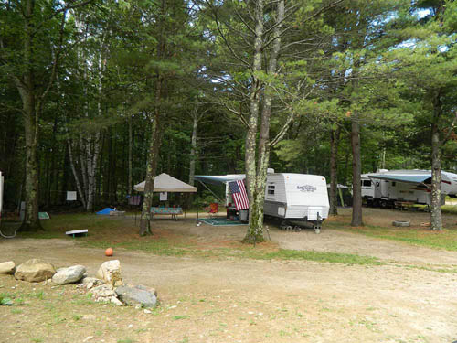 CROWN POINT CAMPGROUND at STRAFFORD, NH