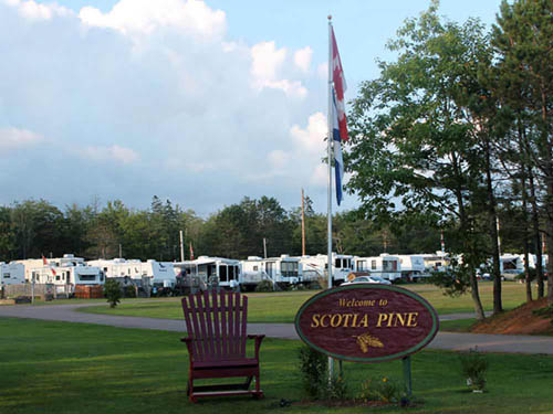 SCOTIA PINE CAMPGROUND at TRURO, NS