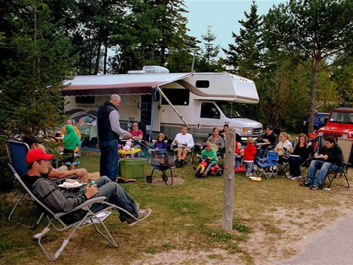 MACKINAW MILL CREEK CAMPING at MACKINAW CITY, MI