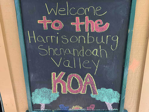 HARRISONBURG/SHENANDOAH VALLEY KOA at BROADWAY, VA