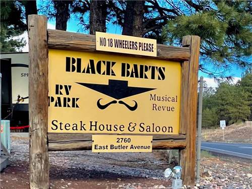 BLACK BARTS RV PARK at FLAGSTAFF, AZ