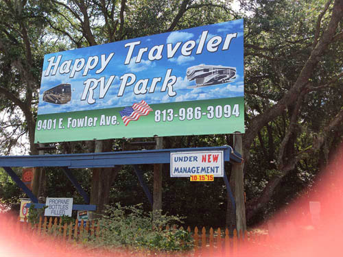 HAPPY TRAVELER RV PARK at THONOTOSASSA, FL