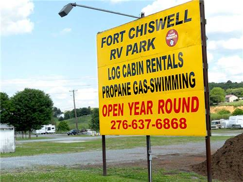 FORT CHISWELL RV PARK at WYTHEVILLE, VA