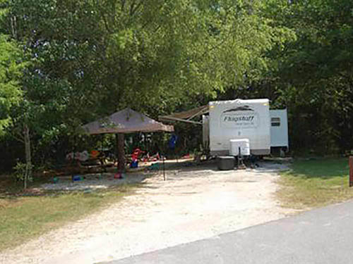 THE CAMPGROUND AT JAMES ISLAND COUNTY PARK at CHARLESTON, SC