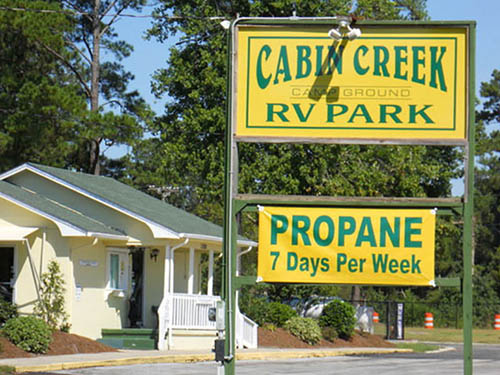 CABIN CREEK CAMPGROUND at JACKSONVILLE, NC