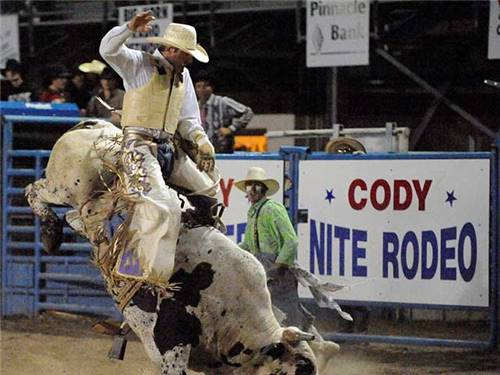 Minutes from Cody Nite Rodeo.