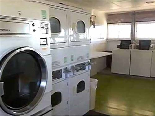 One of the laundry rooms.