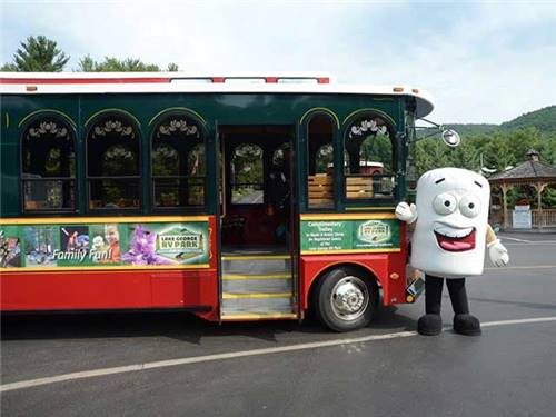 Trolley service to Lake George Village