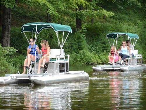 Free paddle boats on our scenic lake