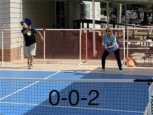 Join the scheduled pickleball games or get your own started