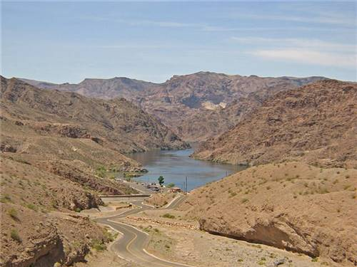 Grand view of the Colorado river below the RV park