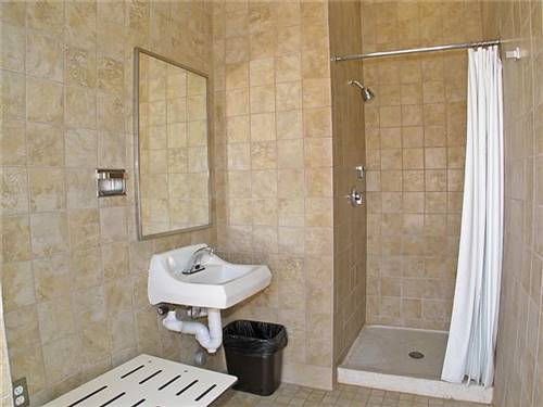 Shower access with site rental