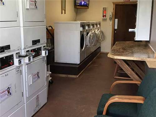 Convenient and clean laundry room