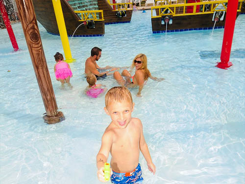 Kids love the water parks!