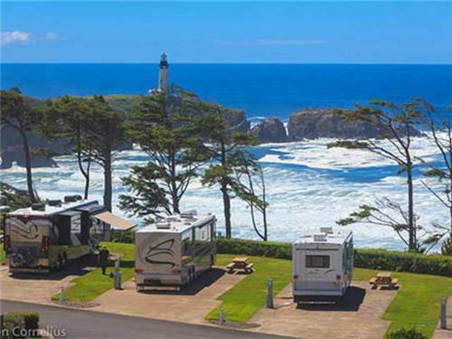 At Pacific Shores we overlook Yaquina Head Lighthouse, the tallest lighthouse on the Oregon Coast
