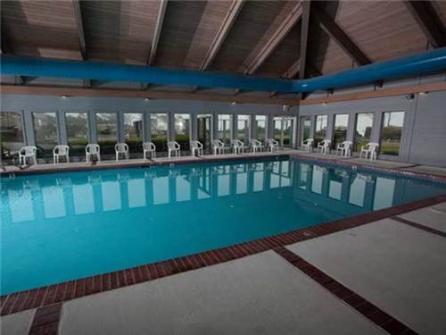 We have two heated pools and hot tubs for guests - this indoor pool and an outdoor pool as well.