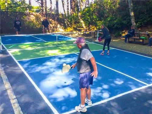 It also brings you to our pickle ball court.