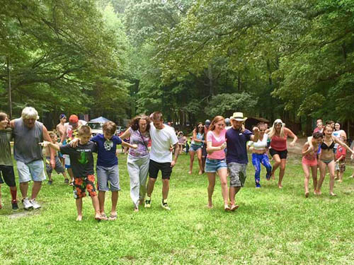 Three-Legged Race at the 4th of July cookout.