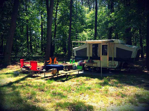 Summer afternoon at one of our many Tent Sites.