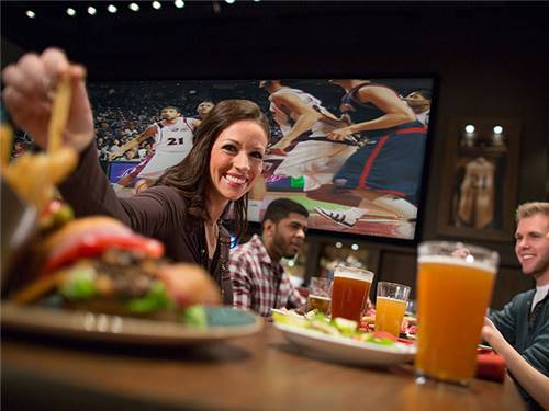 Grab a comfy chair and watch your favorite team battle up close on our EPIC-sized 30'x10' HDTV.