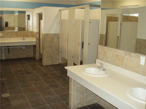 Newly Renovated Shower and Restrooms