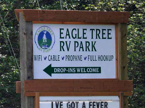 Eagle Tree RV Park at historic Poulsbo, WA.