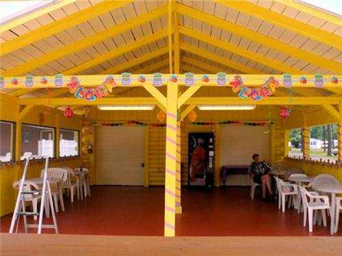 Cheerful outdoor pavilion