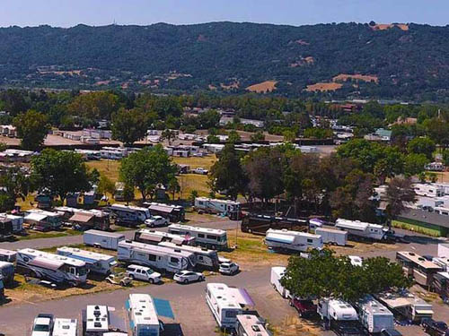 Fairpark RV Campground in Sunny Pleasanton, CA
