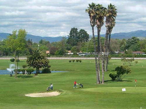 Enjoy nine-holes at the Pleasanton Golf Course