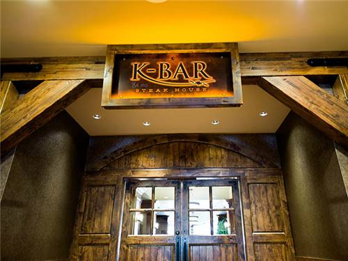 The K-Bar Steakhouse is just one of many dining options at the Casino- from full-service to casual.