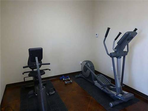 Exercise room for you
