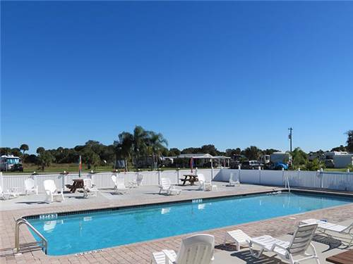 Spacious sites accommodating any size RV