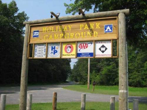 Welcome to Holiday Park on Maryland's eastern shore.