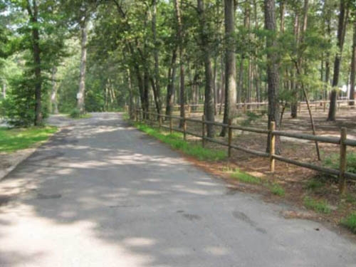 Roadway bordering first camp area