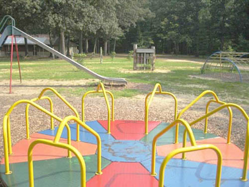 One of four playgrounds for the children